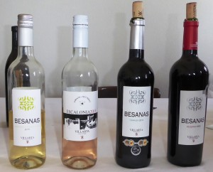 The four wines tasted